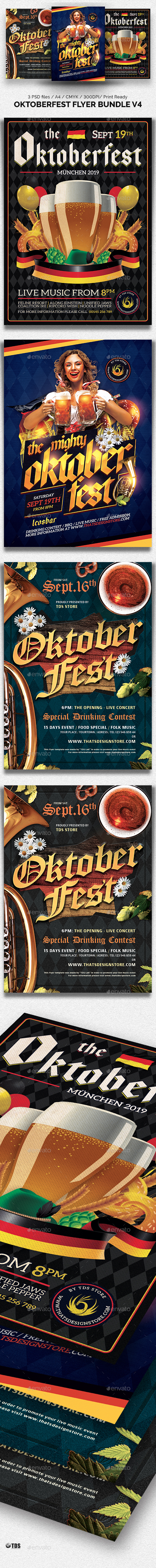 Oktoberfest Flyer Bundle V4 - Clubs & Parties Events