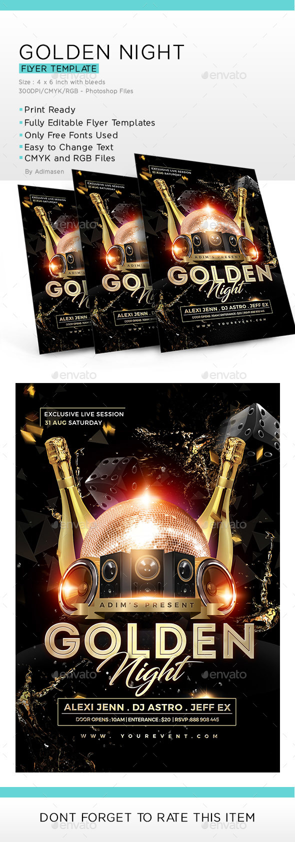 GraphicRiver Golden Night Flyer 20547259