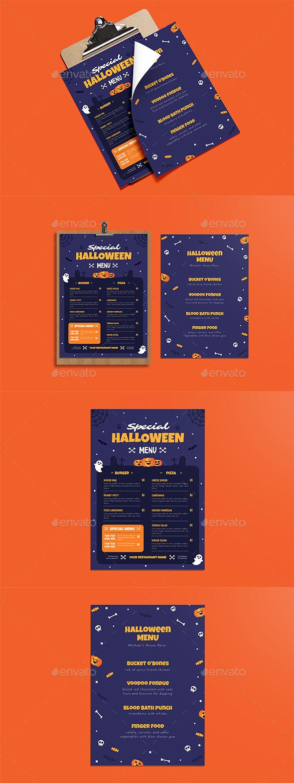 Special Halloween Menus - Restaurant Flyers