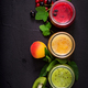 Fresh healthy smoothies from different berries on a dark background - PhotoDune Item for Sale