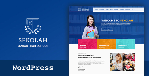 Senior High School & Academic Calendar WordPress Theme - Education WordPress