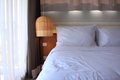 Bedroom with rattan lamp - PhotoDune Item for Sale