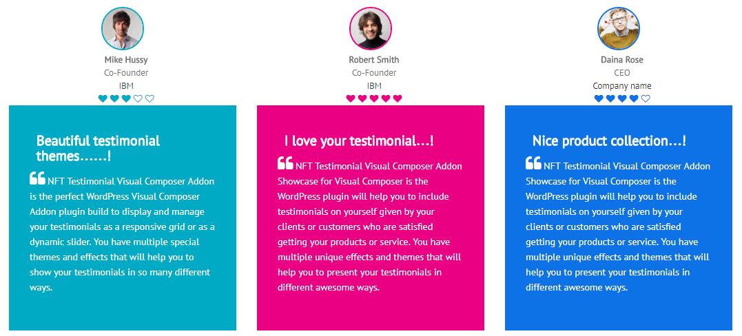 Testimonials Showcase for Visual Composer add on - 4