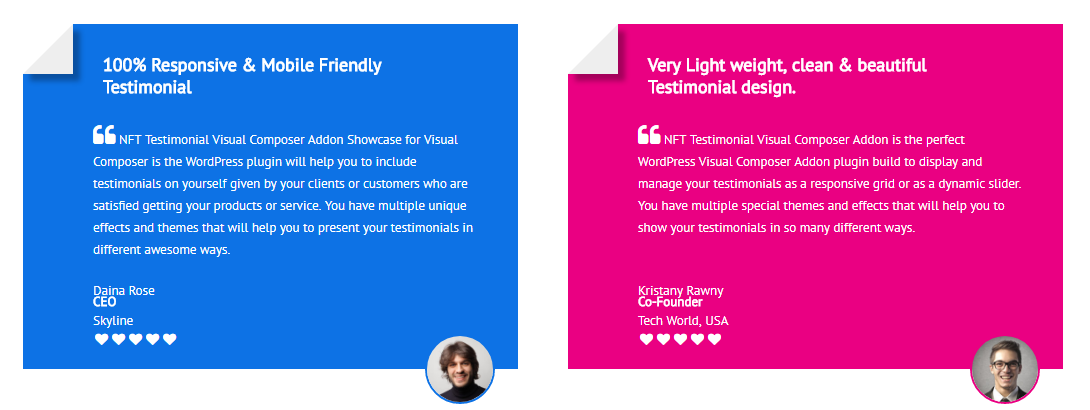 Testimonials Showcase for Visual Composer add on - 8
