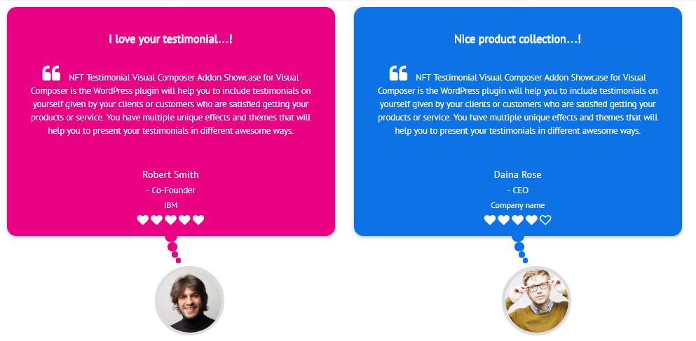 Testimonials Showcase for Visual Composer add on - 11