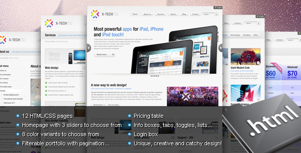 Free Download X-Tech Premium HTML/CSS template Nulled Latest Version