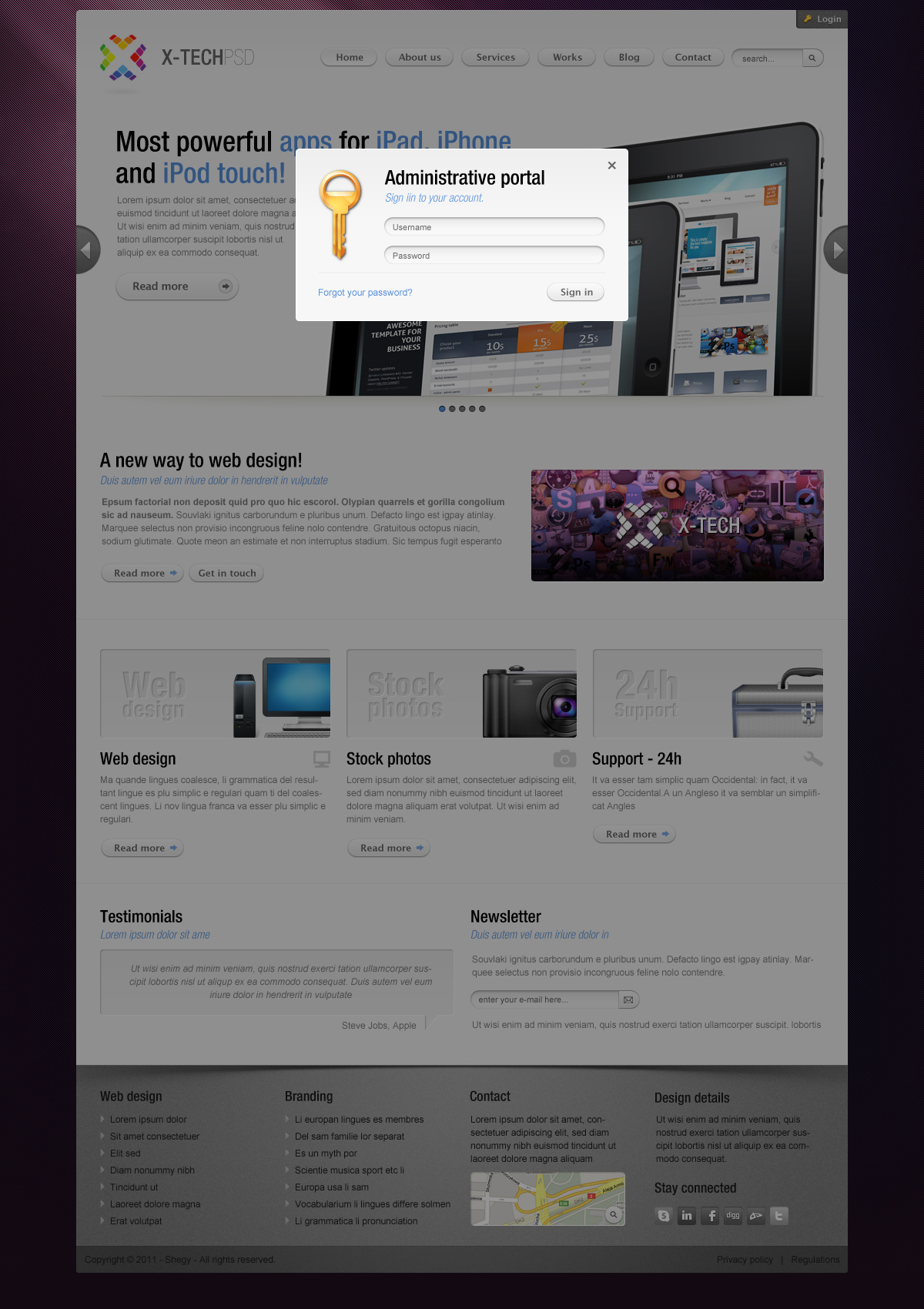 X-Tech Premium HTML/CSS template by Shegy   ThemeForest