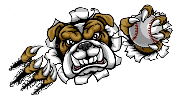GraphicRiver Bulldog Baseball Sports Mascot 20578761