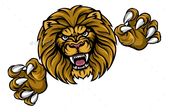 Lion Animal Sports Mascot - Animals Characters
