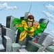 Flying Superhero City Scene