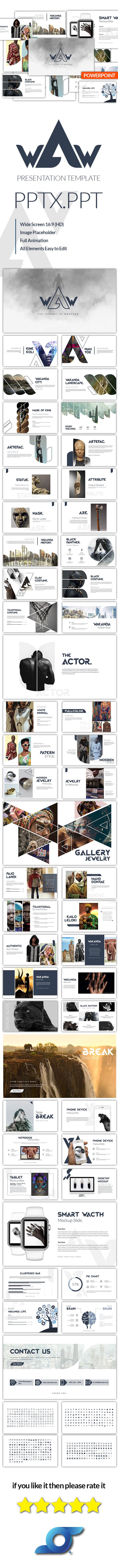 Wakanda Creative Template - Creative PowerPoint Templates