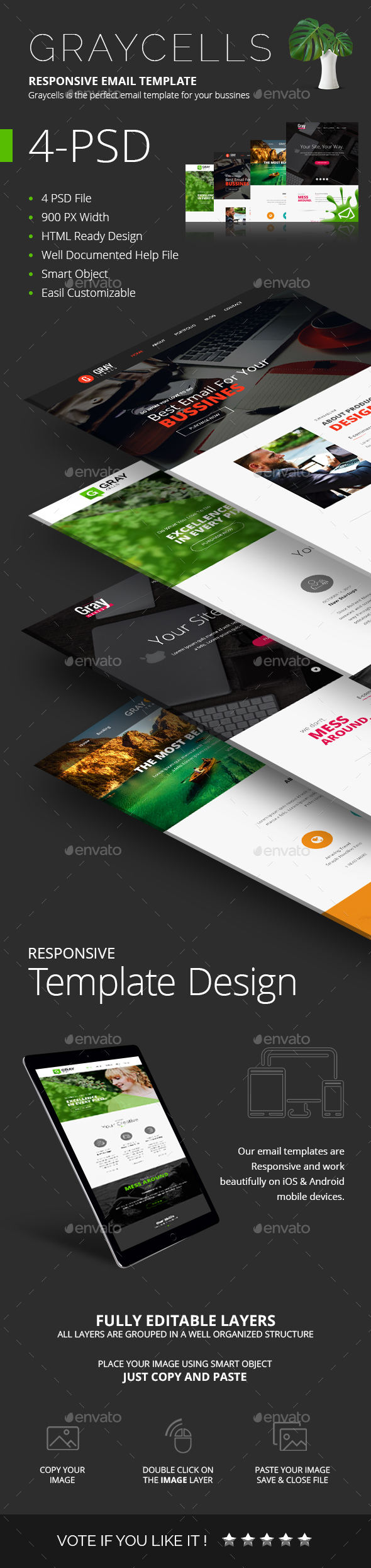 GraphicRiver 4 E-newsletter PSD 20578921