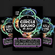 Circle Sound Flyer Template