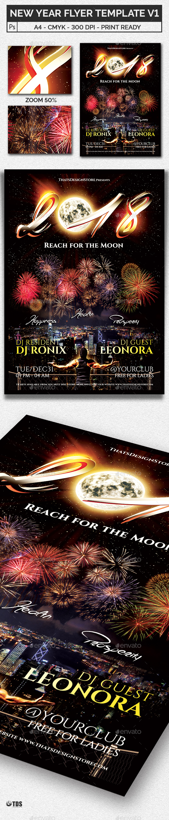 New Year Flyer Template V1