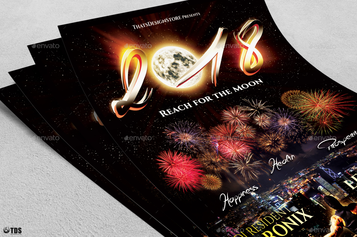 New Year Flyer Template V1 by lou606 – New Year Brochure Template