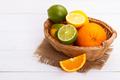 Basket of Citrus Fruit