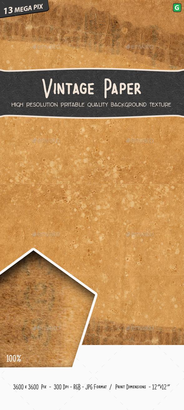 Vintage Paper Texture - Paper Textures