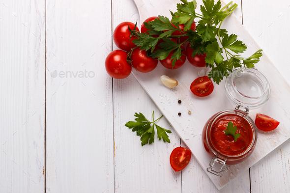 Traditional Italian tomato sauce - Stock Photo - Images