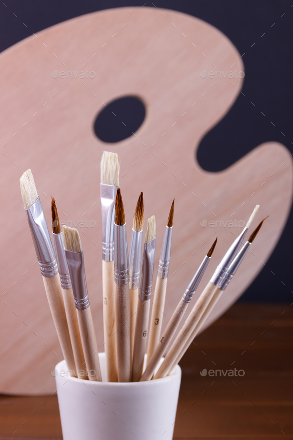 Set of painting brushes - Stock Photo - Images