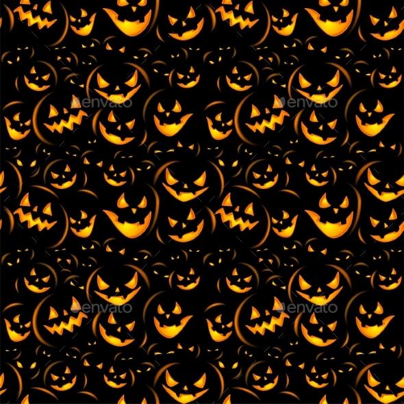 Halloween Holiday Seamless Background - Halloween Seasons/Holidays