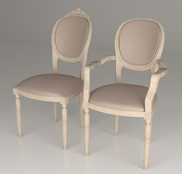 Armchairs - 3DOcean Item for Sale