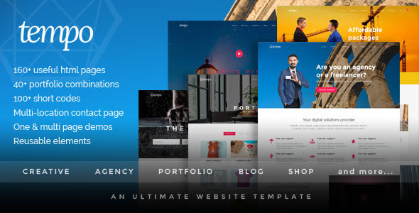 Tempo - Multipurpose Responsive Bootstrap Website Template - Corporate Site Templates