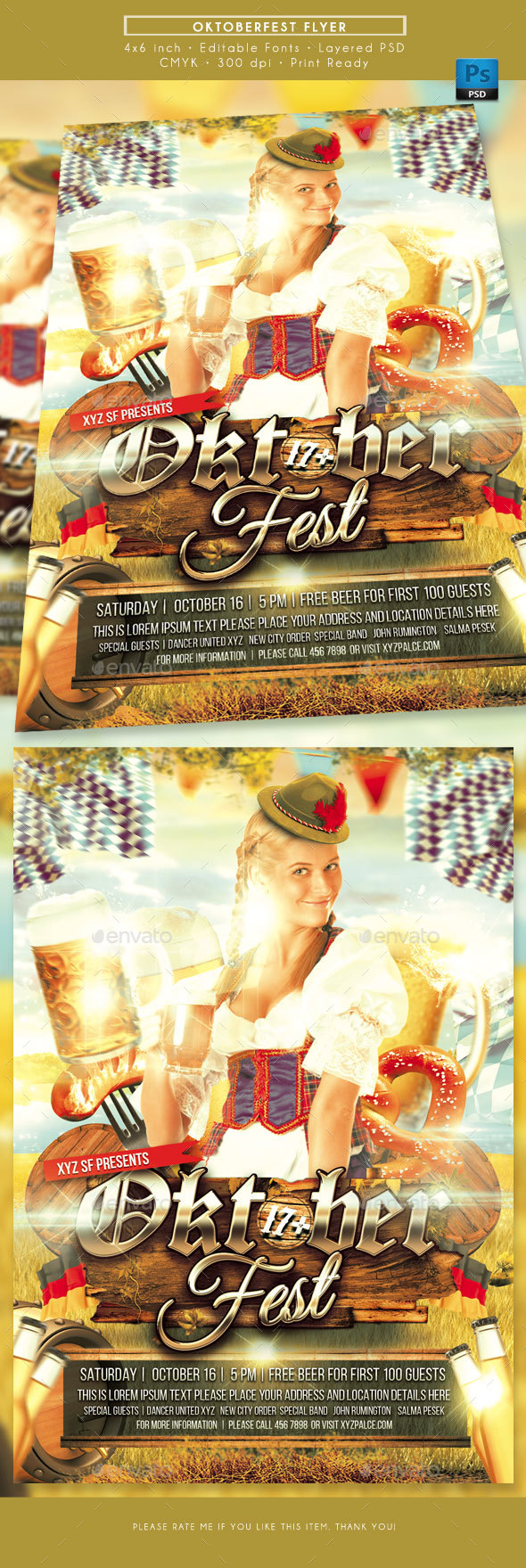 Oktoberfest Event Flyer - Events Flyers