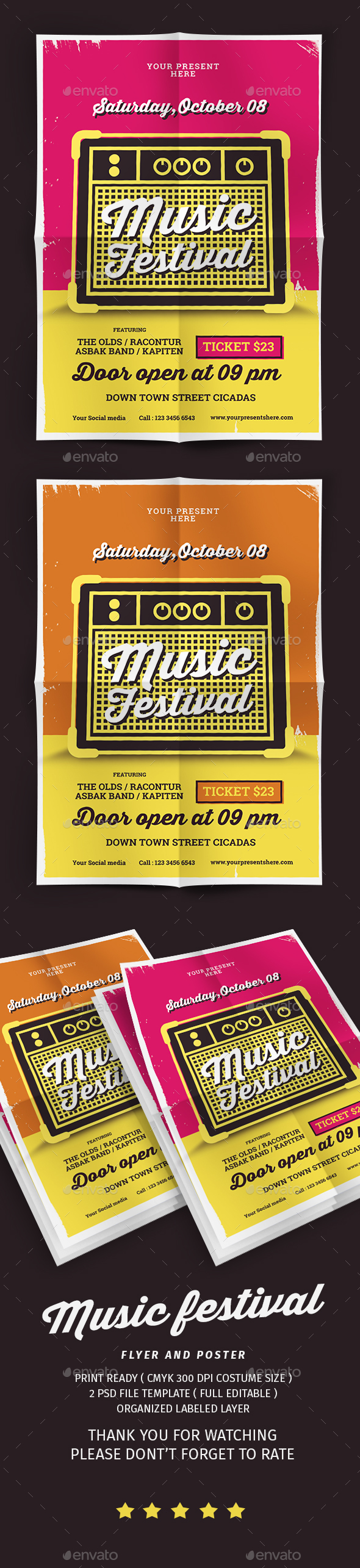 GraphicRiver Music Festival Flyer 20580389