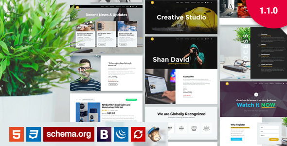 UX - Responsive Bootstrap Creative Portfolio Template - Portfolio Creative