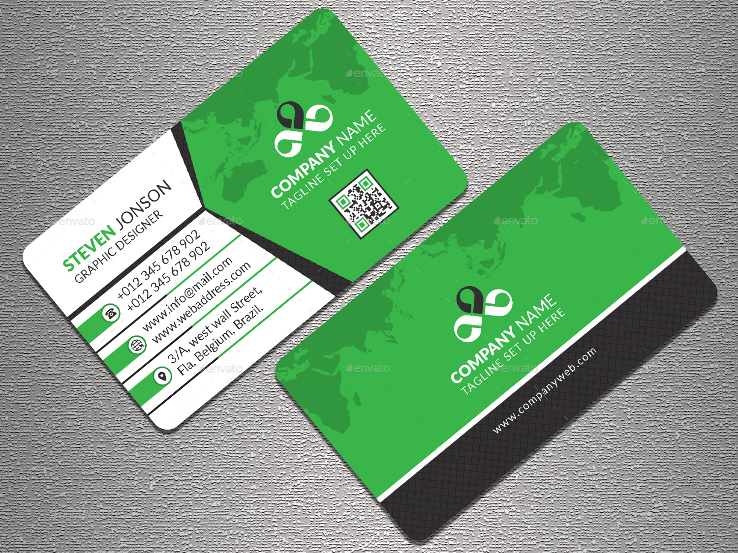 Corporate Business Card by Graphic-Forest   GraphicRiver