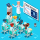Clinic Medical Research Isometric People Vector - GraphicRiver Item for Sale