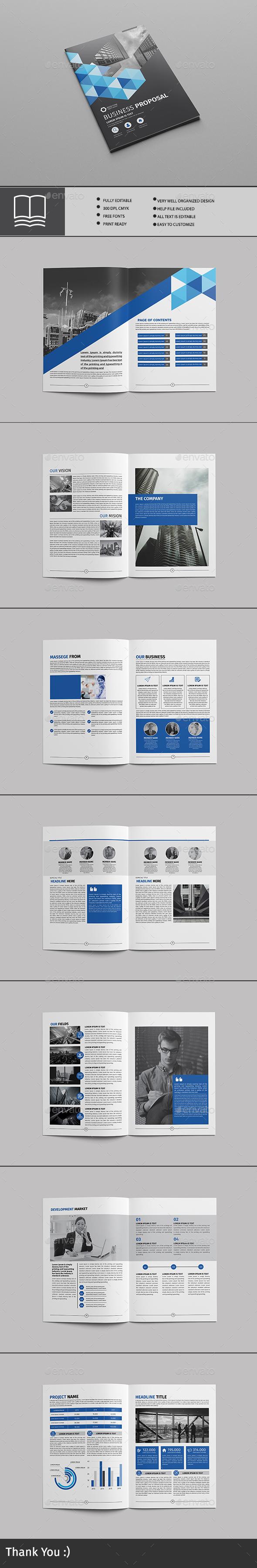 business proposal - Brochures Print Templates