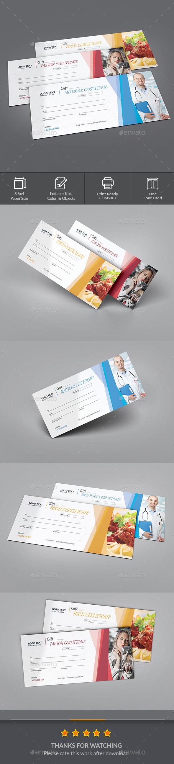 GraphicRiver Gift Certificate 20580799