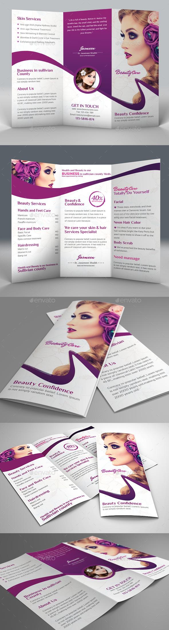 Beauty Salon Trifold Brochure - Corporate Brochures