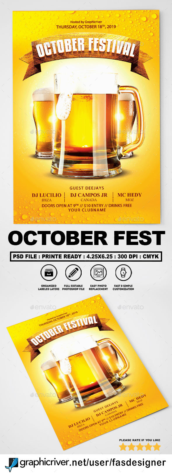 October Festival Flyer - Clubs & Parties Events