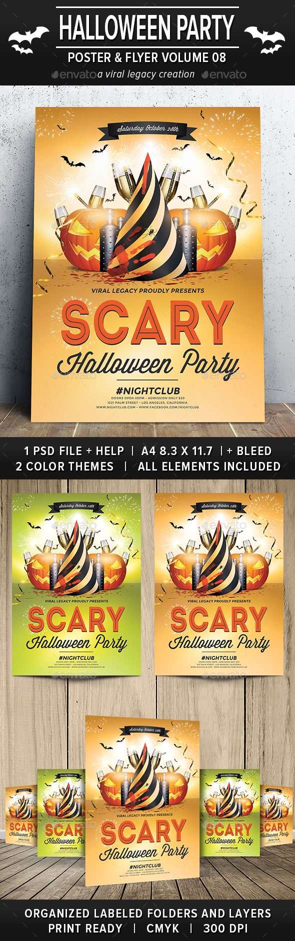 Halloween Party Poster / Flyer V08 - Flyers Print Templates