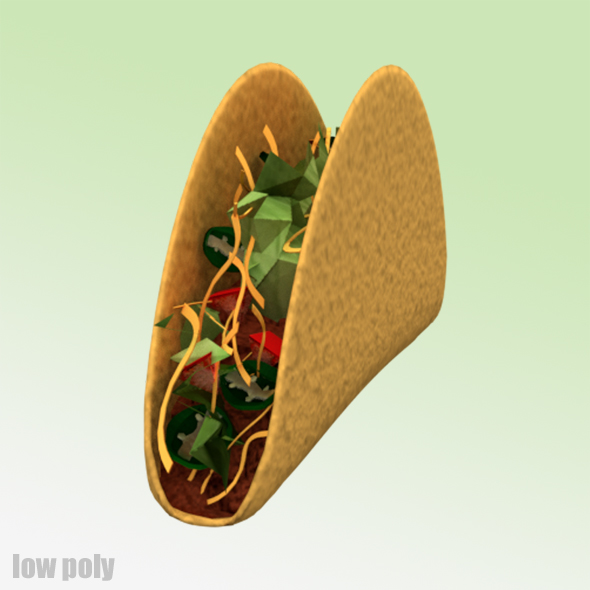 Low Poly Taco - 3DOcean Item for Sale