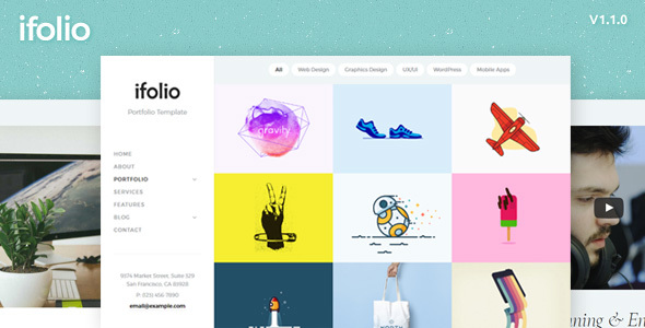 iFolio - Modern Responsive Creative Portfolio Template