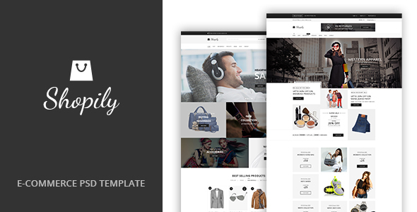 ThemeForest Shopily Multi-Purpose E-Commerce PSD Template 20344096