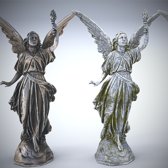 Sculptures Pack Vol.1 Statue 3 - 3DOcean Item for Sale