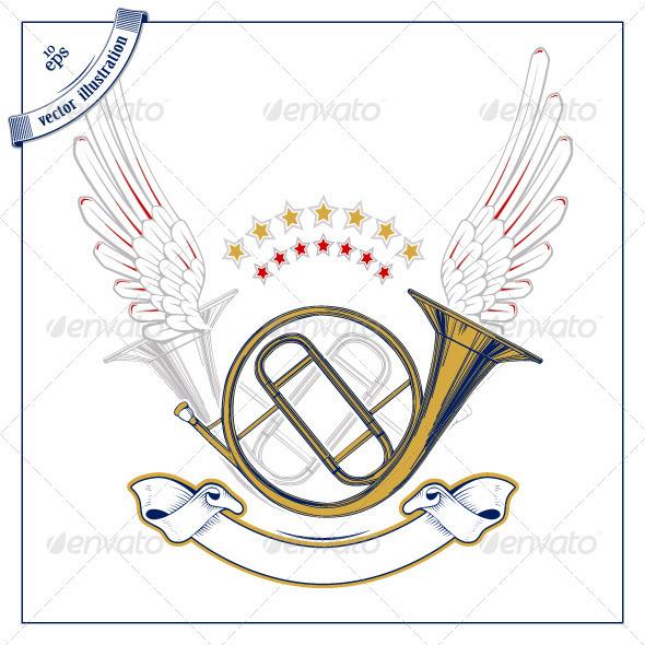 Music Tube Wing Emblem - Media Technology
