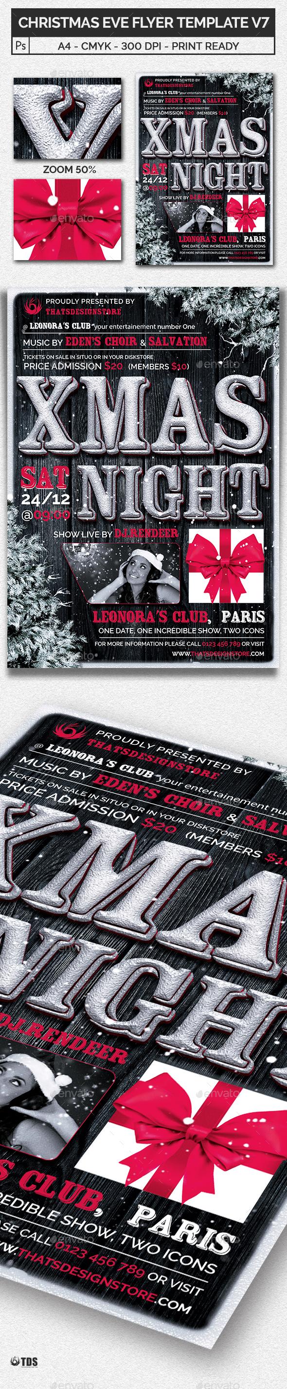 Winter Wonderland Flyer Template Graphics Designs Templates