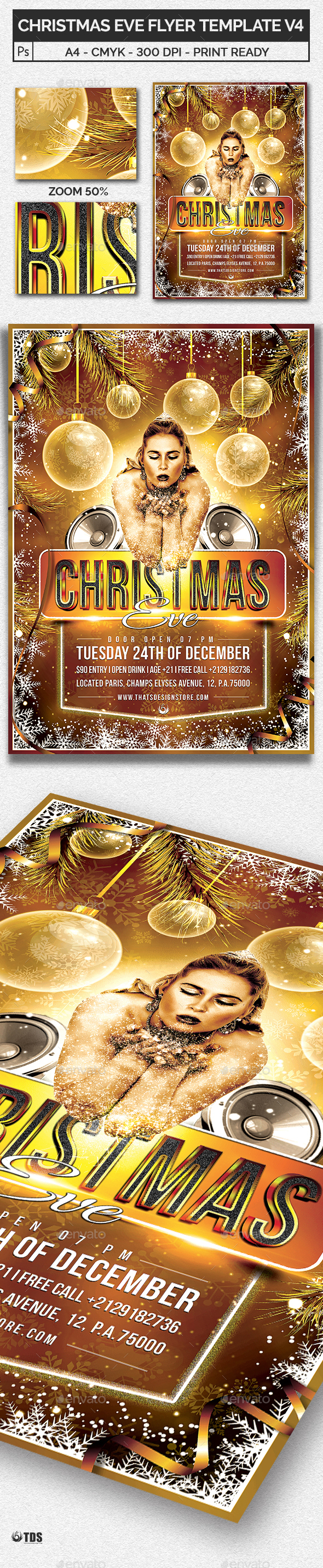 Christmas Eve Flyer Template V4 - Holidays Events