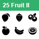 Fruit II Vector Icons