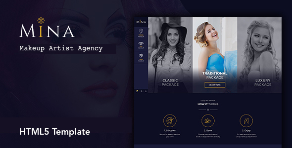 Mina - Beauty Salon Makeup HTML5 Template