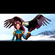 Eagle Trainer Elf on the Mountains - GraphicRiver Item for Sale