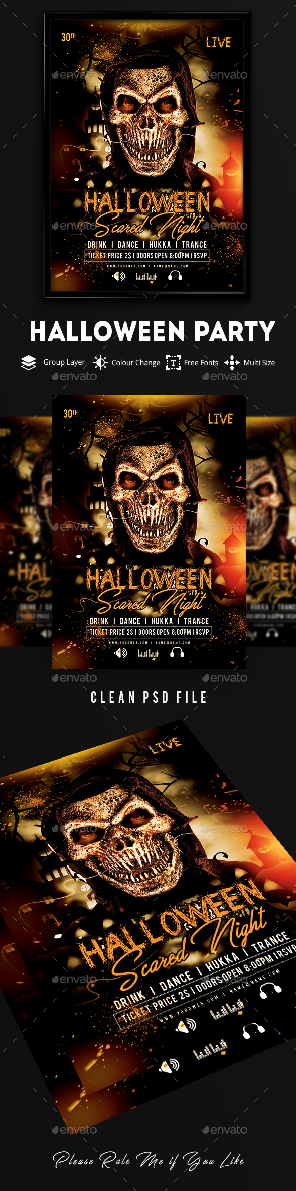 GraphicRiver Halloween Party Flyer Template 20582357