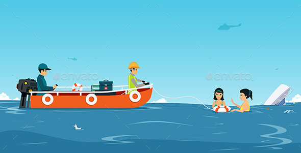 Water Rescue Team - Travel Conceptual