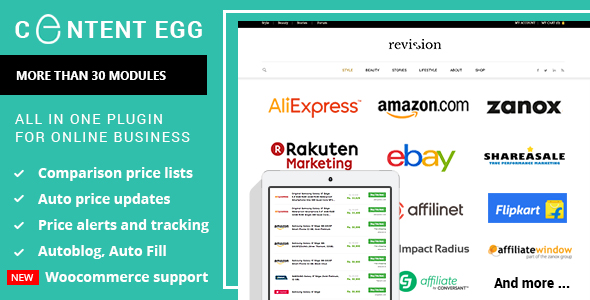Content Egg - all in one plugin for Affiliate, Price Comparison, Deal sites - CodeCanyon Item for Sale
