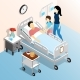 People in Hospital Isometric Design Concept